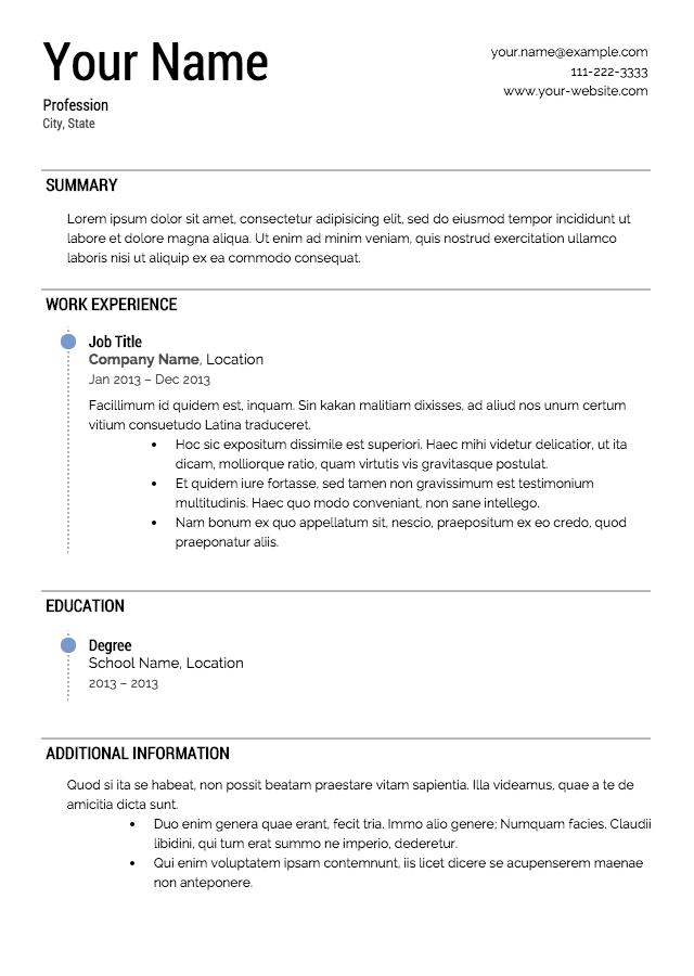 Resume 19